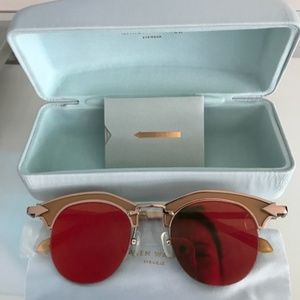 KAREN WALKER BucCaneer Orange Flash Sunglasses